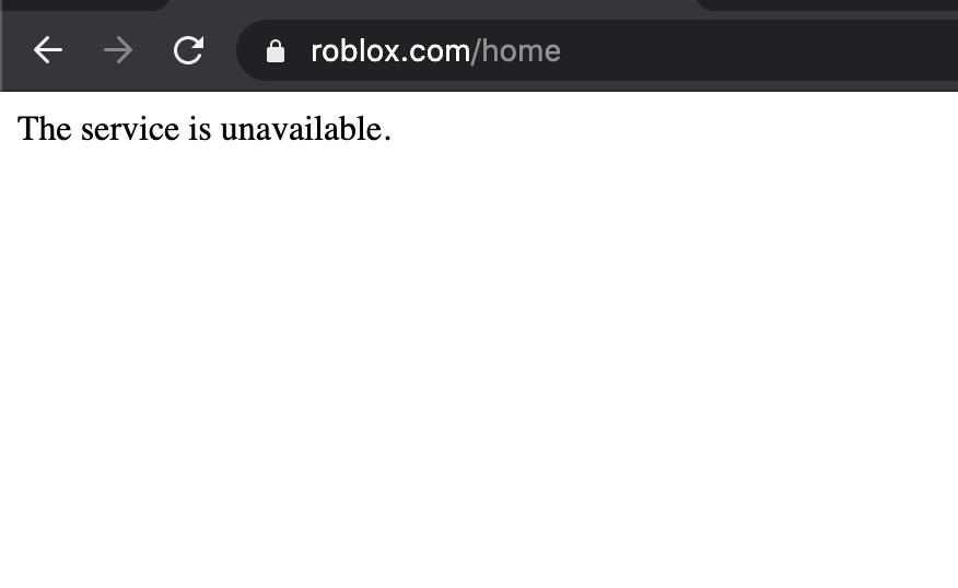 Roblox The Service is Unavailable Hatası