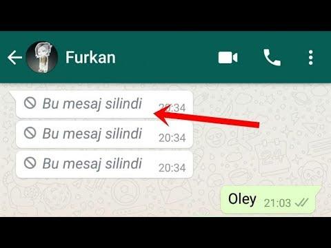 WhatsApp Silinen Mesajları Görme