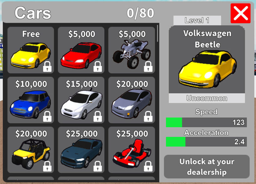 Roblox Vehicle Tycoon Kodları