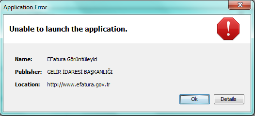 Unable to Launch the Application